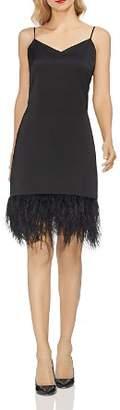 Vince Camuto Satin Embellished-Hem Dress