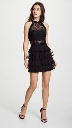 EWA Herzog High Neck Lace Mini Dress