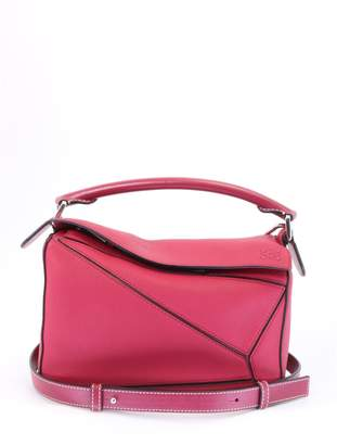 Loewe Puzzle Small Bag Raspberry