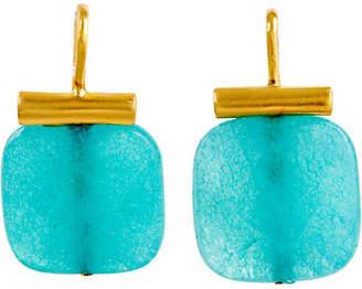 Catherine Canino Bright Blue Quartz Earrings