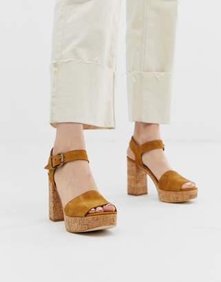 Free People Brooke cork platform heeled sandals