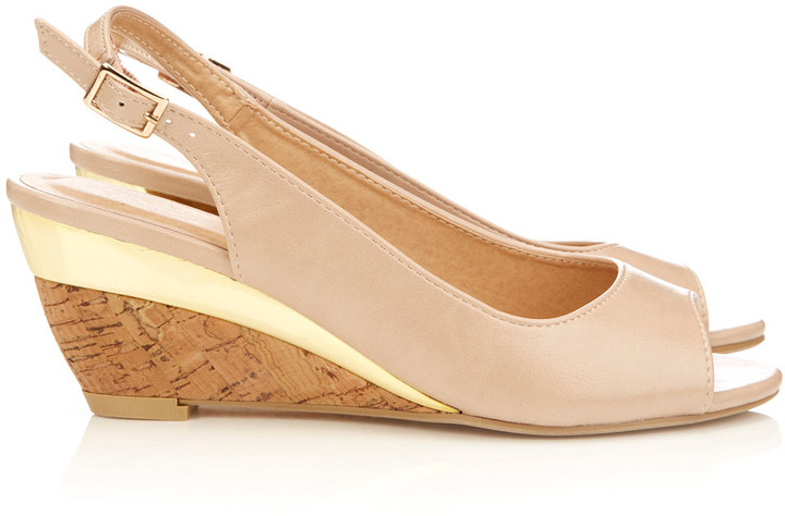 Wallis Nude Wedge Sandal
