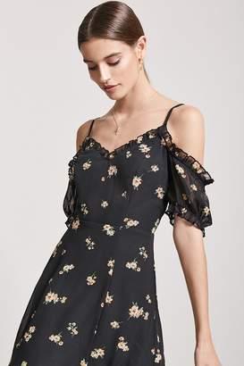 Forever 21 Floral Open-Shoulder Mini Dress