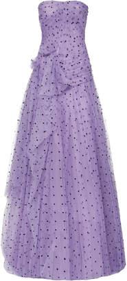 Carolina Herrera Strapless Tulle Gown