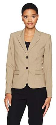 Nine West Women's 2 Button Notch Collar Bi Stretch Jacket