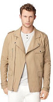 Calvin Klein Jeans Men's Moto Khaki Jacket
