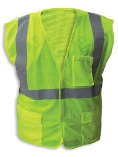 Enguard LIME Poly Mesh FR Reflective Safety Vest, Class 2 - 5XL