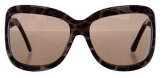 Saint Laurent Tortoiseshell Rectangular Sunglasses