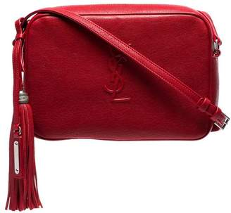 Saint Laurent red Lou crossbody leather bag 38db9922f4c90
