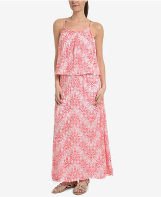 NY Collection Printed Popover Maxi Dress