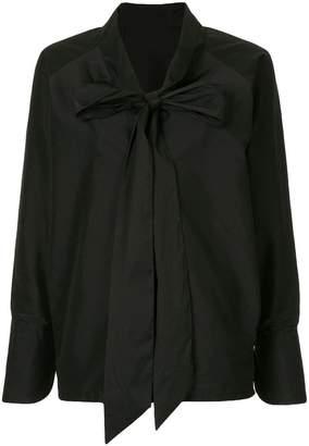 Zambesi tied neck long sleeve shirt