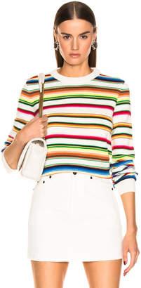Saint Laurent Striped Pullover in Natural & Multicolor | FWRD