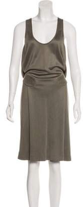 Bottega Veneta Sleeveless Midi Dress Olive Sleeveless Midi Dress