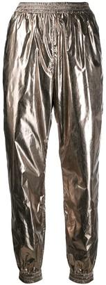 Pinko metallic track pants