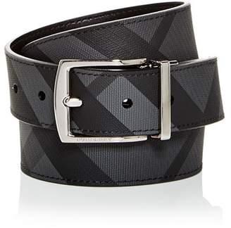 Burberry Clark Vintage Check Reversible Coated Leather Belt