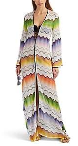Missoni Mare Women's Zigzag-Knit V-Neck Caftan - White