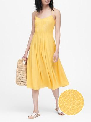 Banana Republic Pintuck Midi Dress