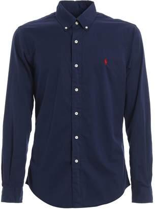 Polo Ralph Lauren Blue Cotton Twill Shirt