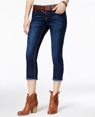 Dollhouse Juniors' Belted Cropped Skinny Jeans $49 thestylecure.com