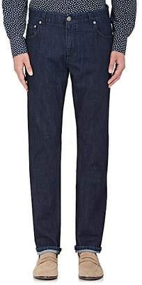 Isaia Men's Slim Straight Jeans - Dk. Blue