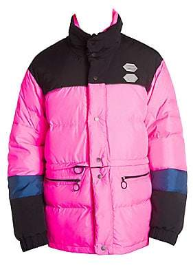 Off-White Men's Colorblock Puffer Jacket