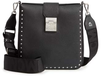 MCM Medium Park Ave Kasion Stud Leather Crossbody Bag
