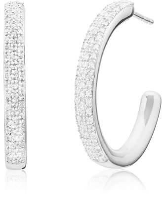 Monica Vinader Fiji Large Diamond Hoop Earrings