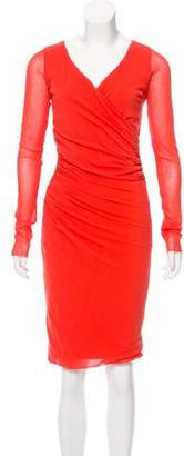 Fuzzi Mesh Knee-Length Dress
