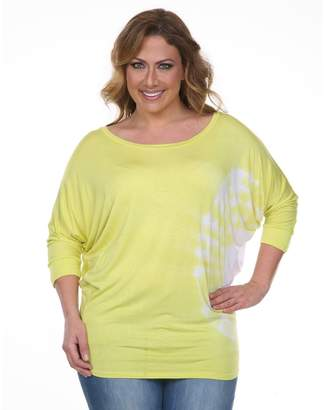 Plus Size White Mark Tie Dyed Tunic