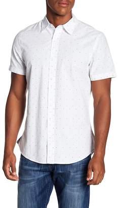 WALLIN & BROS Clipped Dobby Short Sleeve Regular Fit Shirt