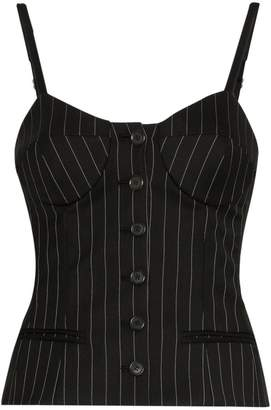 Moschino pinstripe button down bustier