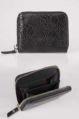 Yours Clothing Yoursclothing Womens Textured Snakeskin Effect Small Zip Around Purse
