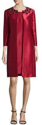 Albert Nipon Bead-Trim Jacket & Sheath Dress Set $450 thestylecure.com