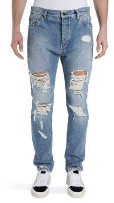 Palm Angels Ripped Vintage Wash Jeans