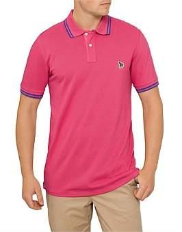 Paul Smith Supima Cotton Pique Polo Shirt W. Tipping & Zebra Badge