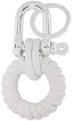 Maison Margiela White Leather Knot Keychain