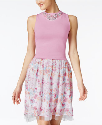 Disney Beauty and the Beast Juniors' Embellished Top & Printed Skirt Set $69 thestylecure.com