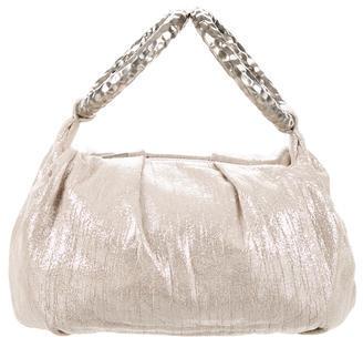 Jimmy ChooJimmy Choo Metallic Pleated Lame Handle Bag