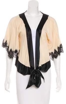 Temperley London Silk Cropped Cardigan