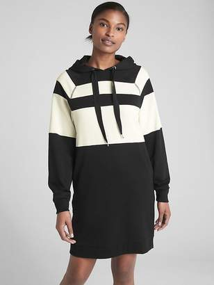 Gap Stripe Raglan Sleeve Hoodie Sweatshirt Dress