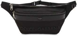 Dolce & Gabbana Logo Leather & Nylon Belt Bag