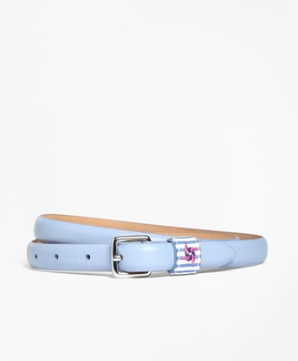 Brooks Brothers Leather Keeper Belt