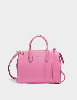 Furla Pin M Satchel Bag in Orchid Calfskin