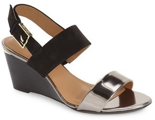 Calvin Klein 'Pearla' Wedge Sandal (Women) $98.95 thestylecure.com