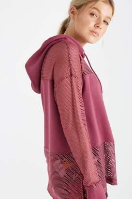 Spliced Fleece Long Sleeve Top