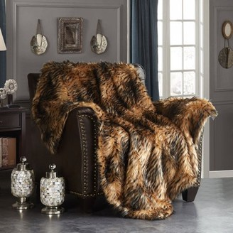 Alden Chic Home 1 Piece Throw Blanket Faux Fur Collection