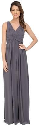 Donna Morgan Julie Long Bra Friendly Chiffon Dress Women's Dress