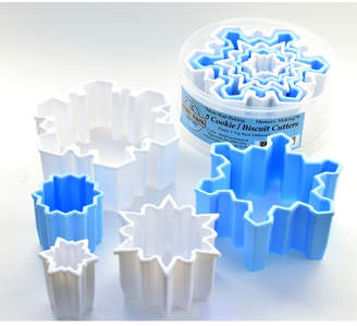 R & M International Corp. 5 Piece Snowflake Plastic Cookie Cutter Set