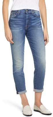 7 For All Mankind Josefina High Waist Roll Hem Boyfriend Jeans