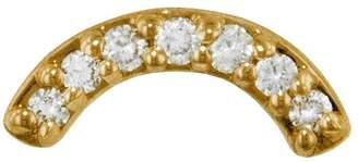 Andrea Fohrman Diamond Rainbow Single Stud Earring - Yellow Gold